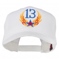13th Air Force Badge Embroidered Cap - White