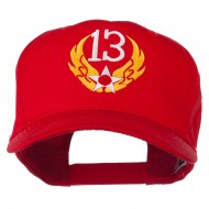 13th Air Force Badge Embroidered Cap - Red