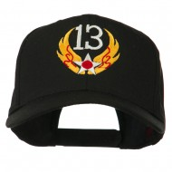 13th Air Force Badge Embroidered Cap - Black