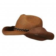 Twisted Band Men's Cowboy Hat - Brown