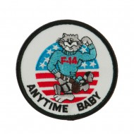 Navy Tomcat Embroidered Military Patch - Anytime