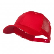 Constructed Twill Mesh Trucker Cap - Red
