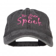 Too Cute To Spook Embroidered Washed Cap - Black