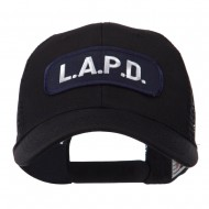 Text Law and Forces Embroidered Patched Mesh Cap - LAPD