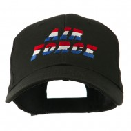 Three Color Air Force Logo Embroidered Cap - Black
