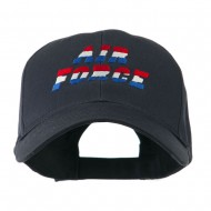 Three Color Air Force Logo Embroidered Cap - Navy
