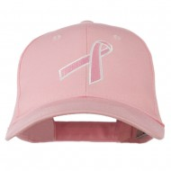 Breast Cancer Ribbon Embroidered Cap - Pink