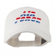 Three Color Air Force Logo Embroidered Cap - White