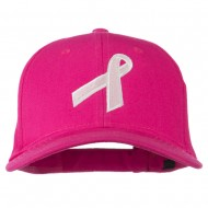 Breast Cancer Ribbon Embroidered Cap - Hot Pink