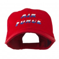 Three Color Air Force Logo Embroidered Cap - Red