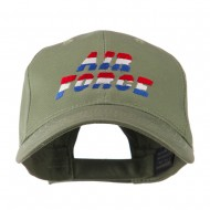 Three Color Air Force Logo Embroidered Cap - Olive