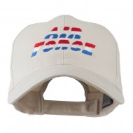 Three Color Air Force Logo Embroidered Cap - Stone