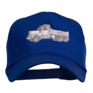 Truck Embroidered Mesh Back Twill Snapback Cap - Royal