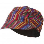 Women's Small Tribal Military Hat - Small Tribal Print
