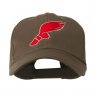 Track Shoe with Wing Embroidered Cap - Brown