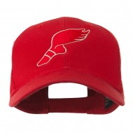 Track Shoe with Wing Embroidered Cap - Red