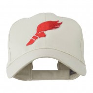 Track Shoe with Wing Embroidered Cap - Stone