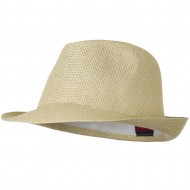 Twisted Toyo Straw Fedora Hat - Natural