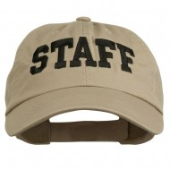 Staff Letter Embroidered Low Profile Washed Cap - Khaki