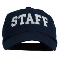 Staff Letter Embroidered Low Profile Washed Cap - Navy