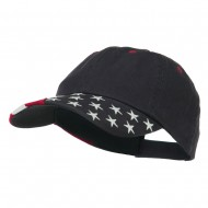 USA Twill Embroidered Cap - Flag