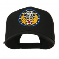 20th Air Force Military Badge Embroidered Cap - Black