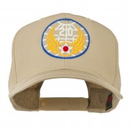 20th Air Force Military Badge Embroidered Cap - Khaki