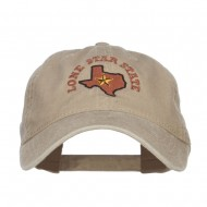 Texas Lone Star State Embroidered Cap - Khaki