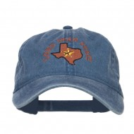 Texas Lone Star State Embroidered Cap - Navy