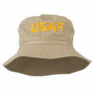 US Air Force Embroidered Pigment Dyed Bucket Hat - Khaki