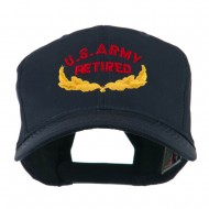 US Army Retired Emblem Embroidered Cap - Navy