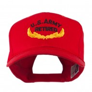 US Army Retired Emblem Embroidered Cap - Red