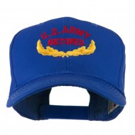 US Army Retired Emblem Embroidered Cap - Royal