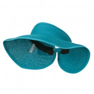 UPF 50+ Bow Closure Roll Up Visor - Turquoise