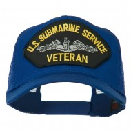 US Submarine Service Veteran Patched Mesh Back Cap - Royal
