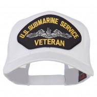 US Submarine Service Veteran Patched Mesh Back Cap - White