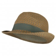 Men's UPF 50+ Paper Braid Fedora - Tan