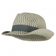 Men's UPF 50+ Paper Braid Fedora - Cream