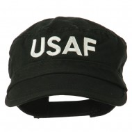 USAF Embroidered Enzyme Army Cap - Black