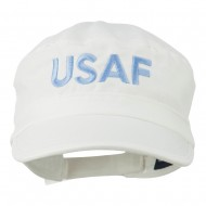 USAF Embroidered Enzyme Army Cap - White