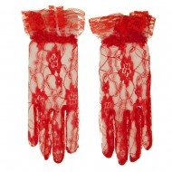 Full Lace 2BL Glove - Red