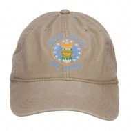 US Air Force Logo Embroidered Washed Cap - Khaki