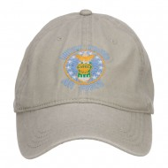 US Air Force Logo Embroidered Washed Cap - Stone