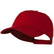 Low Profile Unstructured Cotton Cap - Red