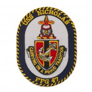 USS Rope Border Logo Patches - USS Nicholas