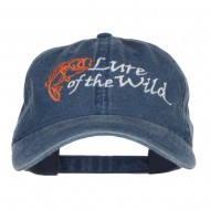 Lure of the Wild Embroidered Washed Cap - Navy