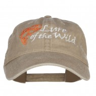 Lure of the Wild Embroidered Washed Cap - Khaki