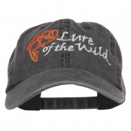 Lure of the Wild Embroidered Washed Cap - Black