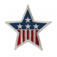 USA Flag Style Embroidered Patch - Star
