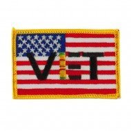 USA Flag Style Embroidered Patch - Viet